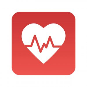health heart with pulse